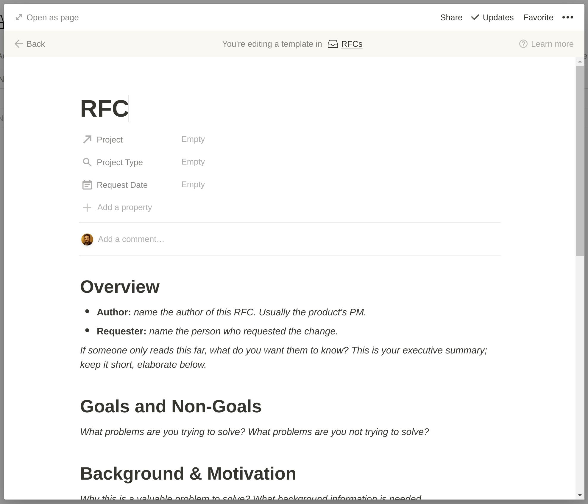 RFC Template