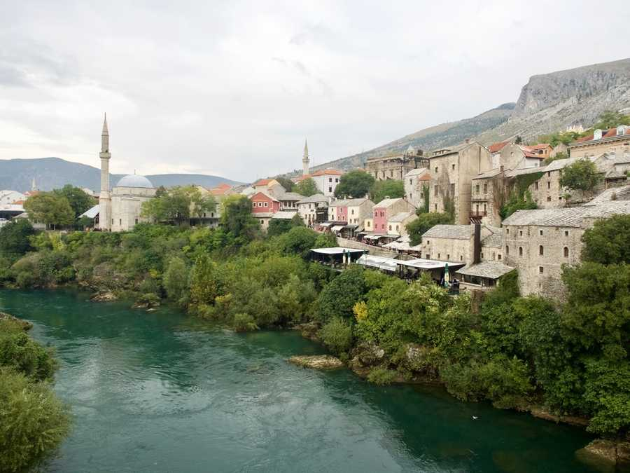 bosnia mostar water river beautiful