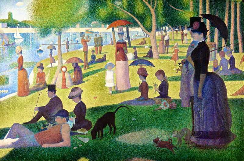 'A Sunday Afternoon on the Island of La Grande Jatte' by Georges-Pierre Seurat, 1884–86, Art Institute of Chicago