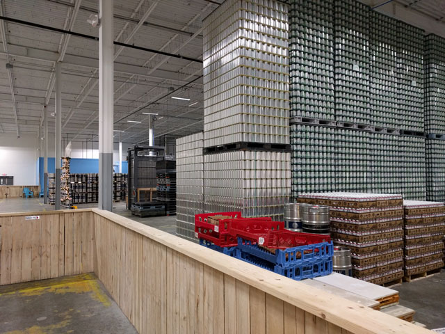 Riverwalk Brewing Company's canning production