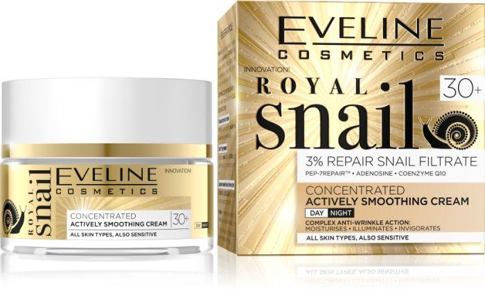 EVELINE ROYAL SNAIL 30+ Koncentrált bőrkisimító nappali-éjszakai arckrém 50 ml | Eveline Cosmetics