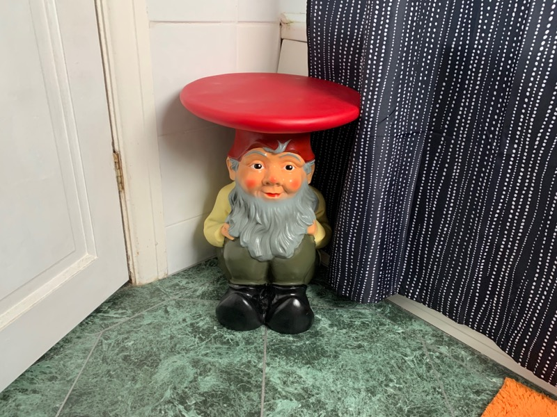 Hideous gnome.