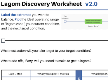 Lagom Discovery Worksheet