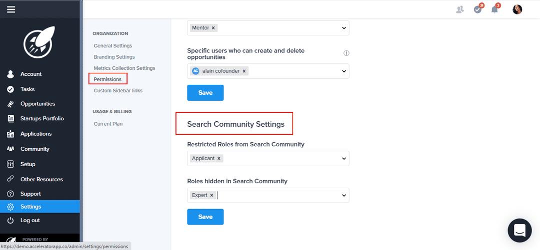 Community permission