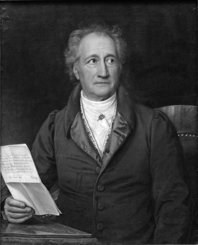 A portrait of Goethe
