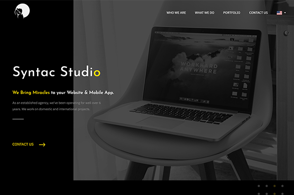 Screenshot of Syntac Studio
