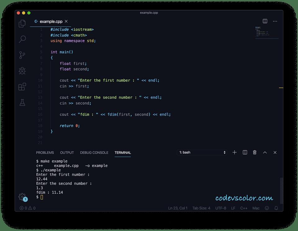 C++ fdim