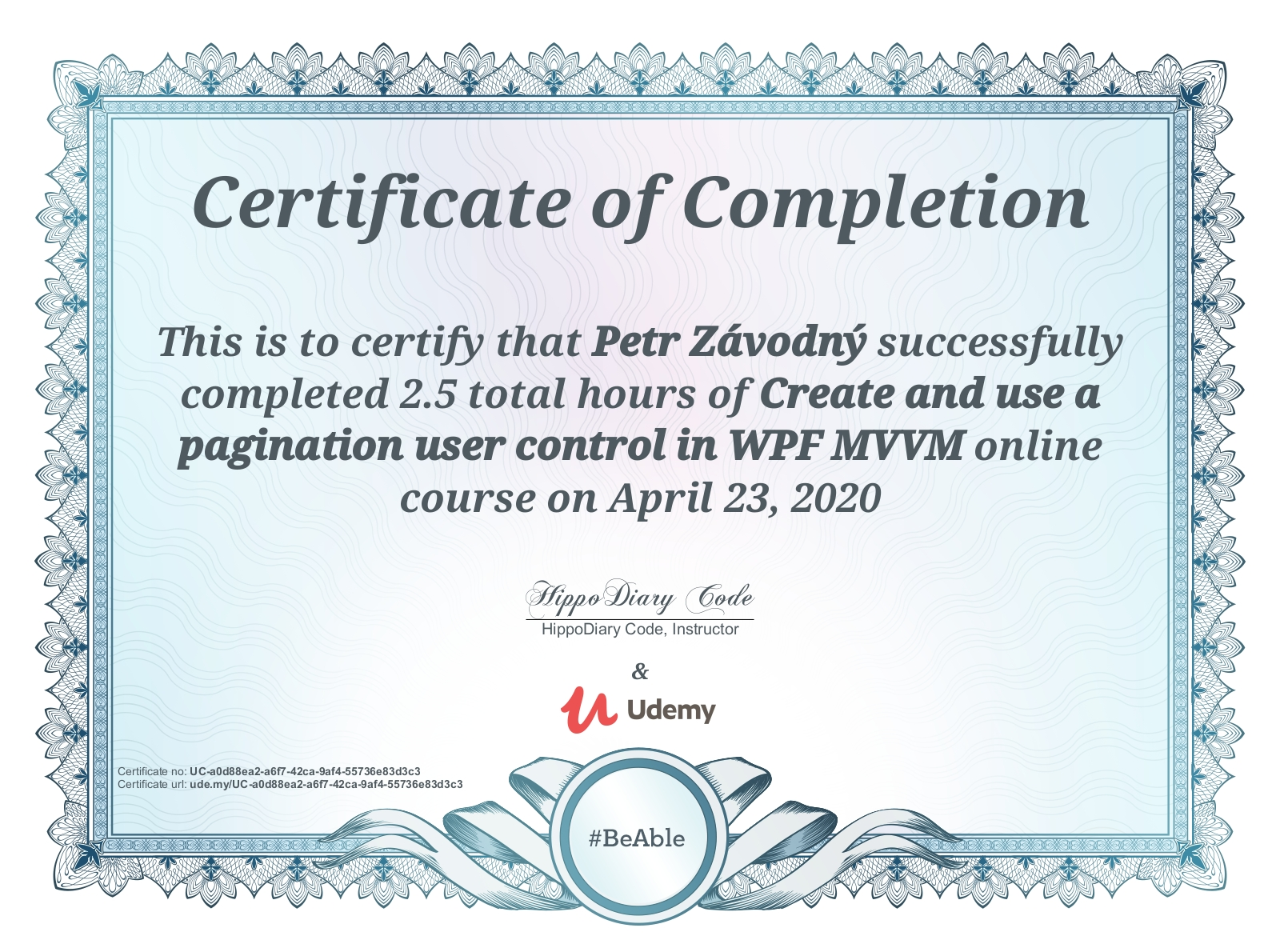 certificate Create and use a pagination user control in WPF MVVM