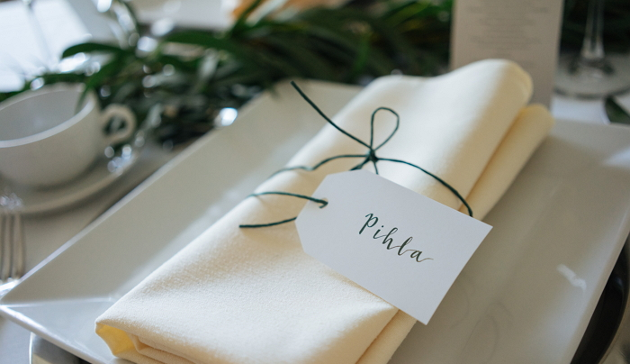custom place card. Photo by Sampsa Kijaluoto. item thumbnail