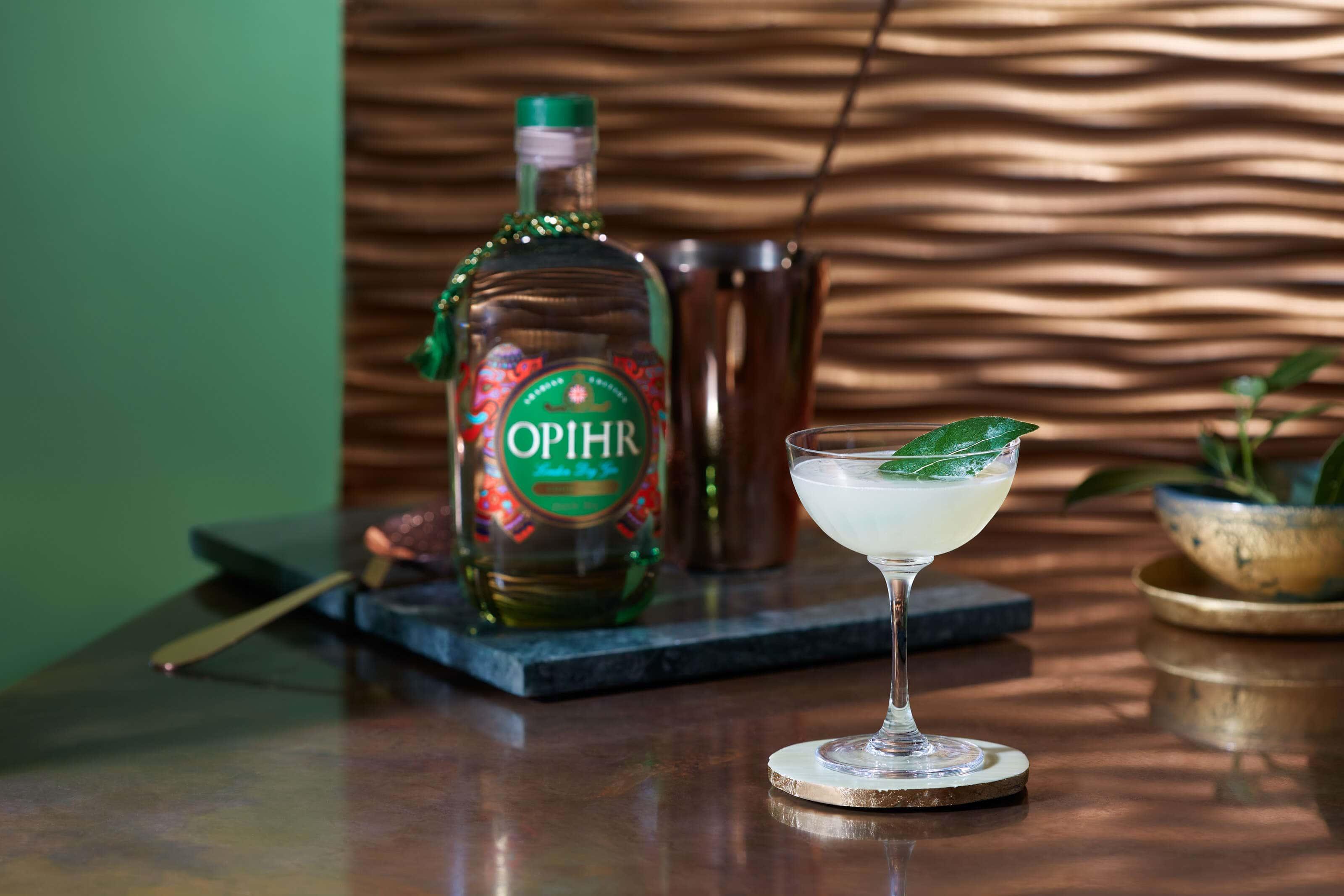 Opihr gin arabian_edition_spiced_daiquiri with a bayleaf