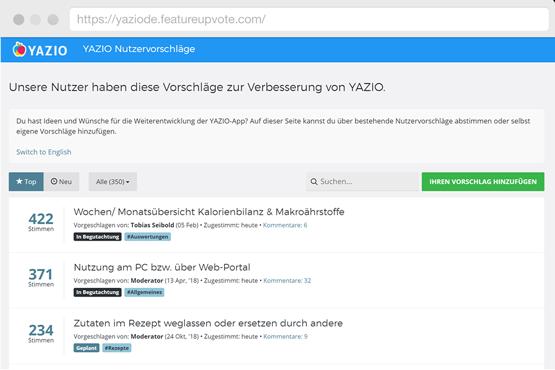 Feature Upvote - Screenshot