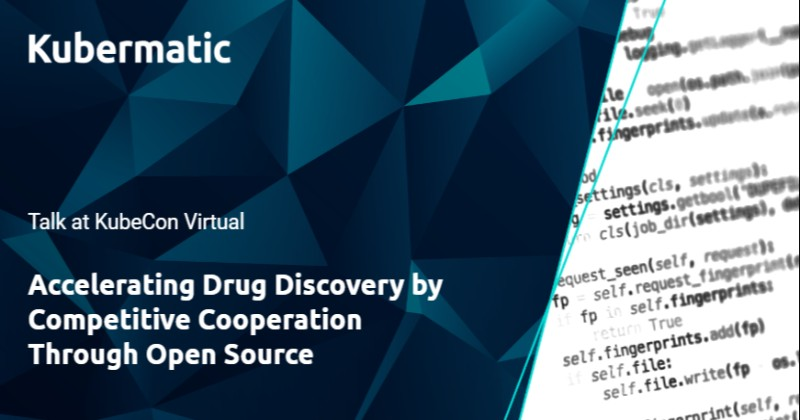 Talk at KubeCon Virtual: Accelerating Drug Discovery