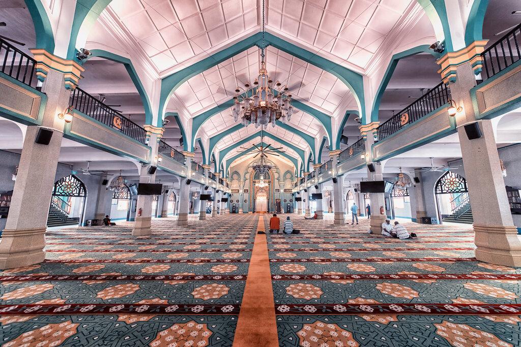 Interior of Sultan Mosque, Singapore
