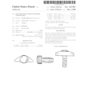 Santa's Best Eye Structure for Blow Molded Yard Figures Patent #D423982.pdf preview