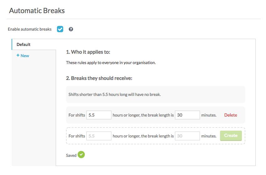 multi-breaks
