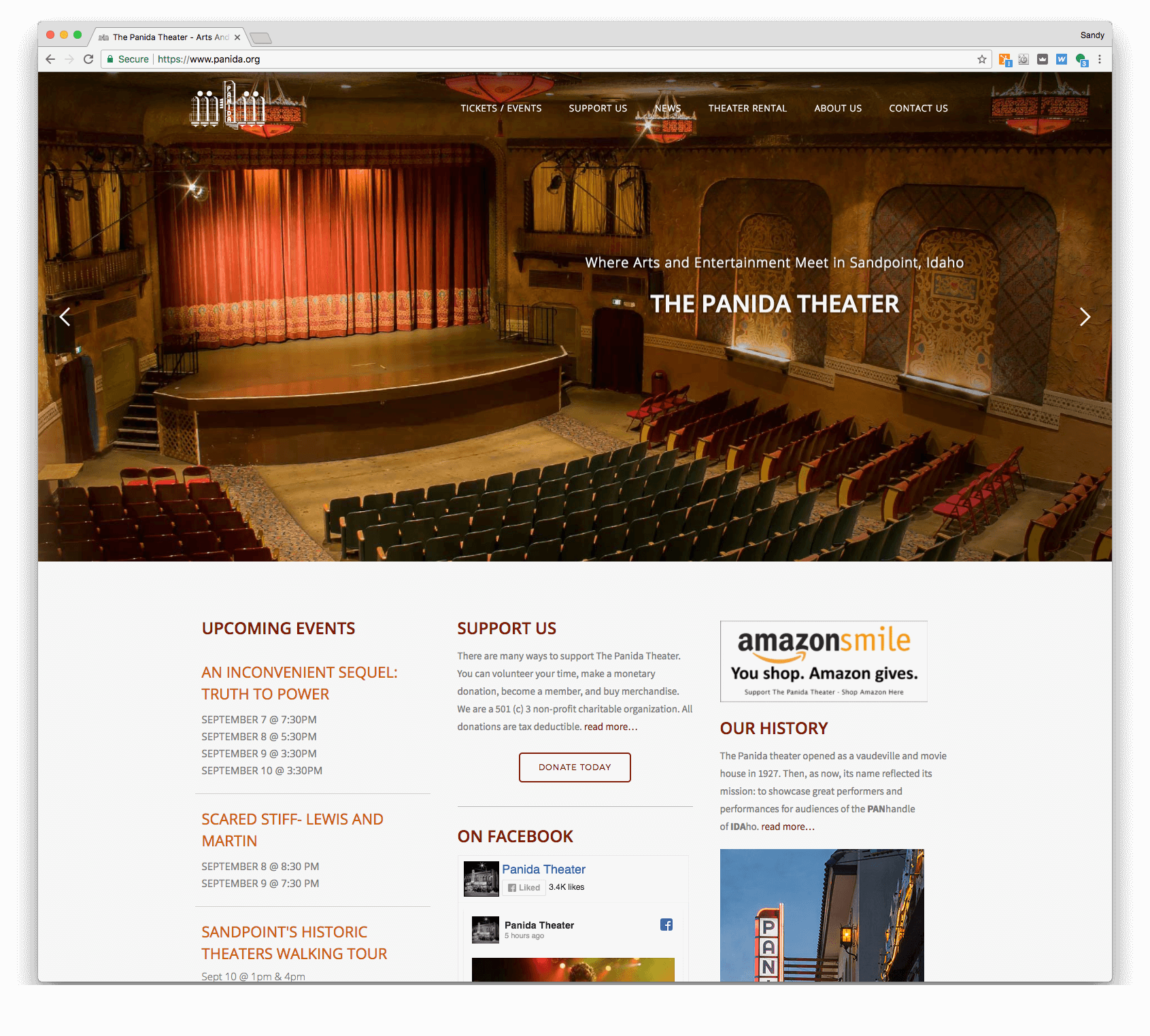 The Panida Theater website