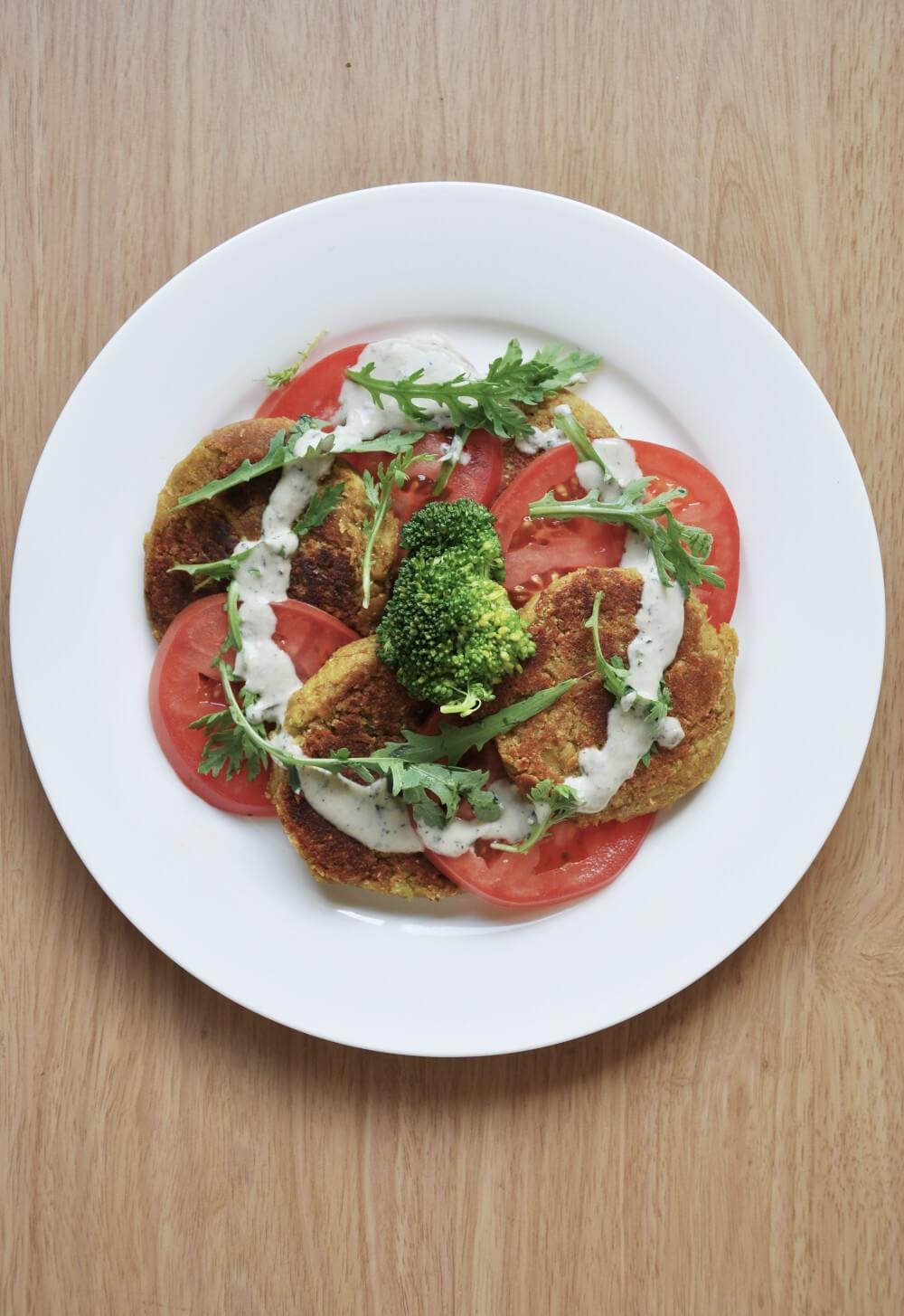 Falafel with Tahini Mint Sauce