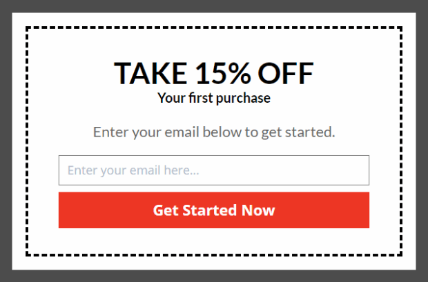 15% off First purchase