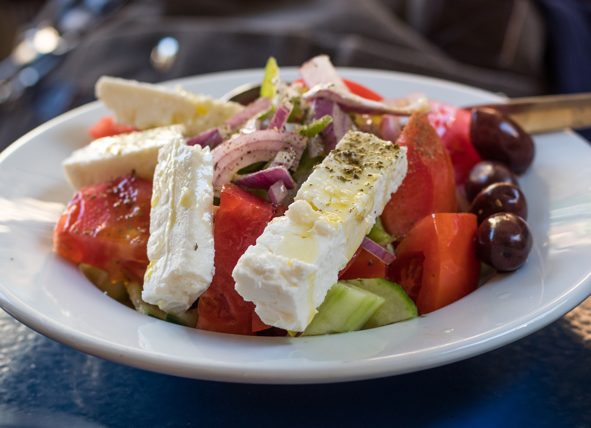 Horiatiki Salad (Greek village salad)