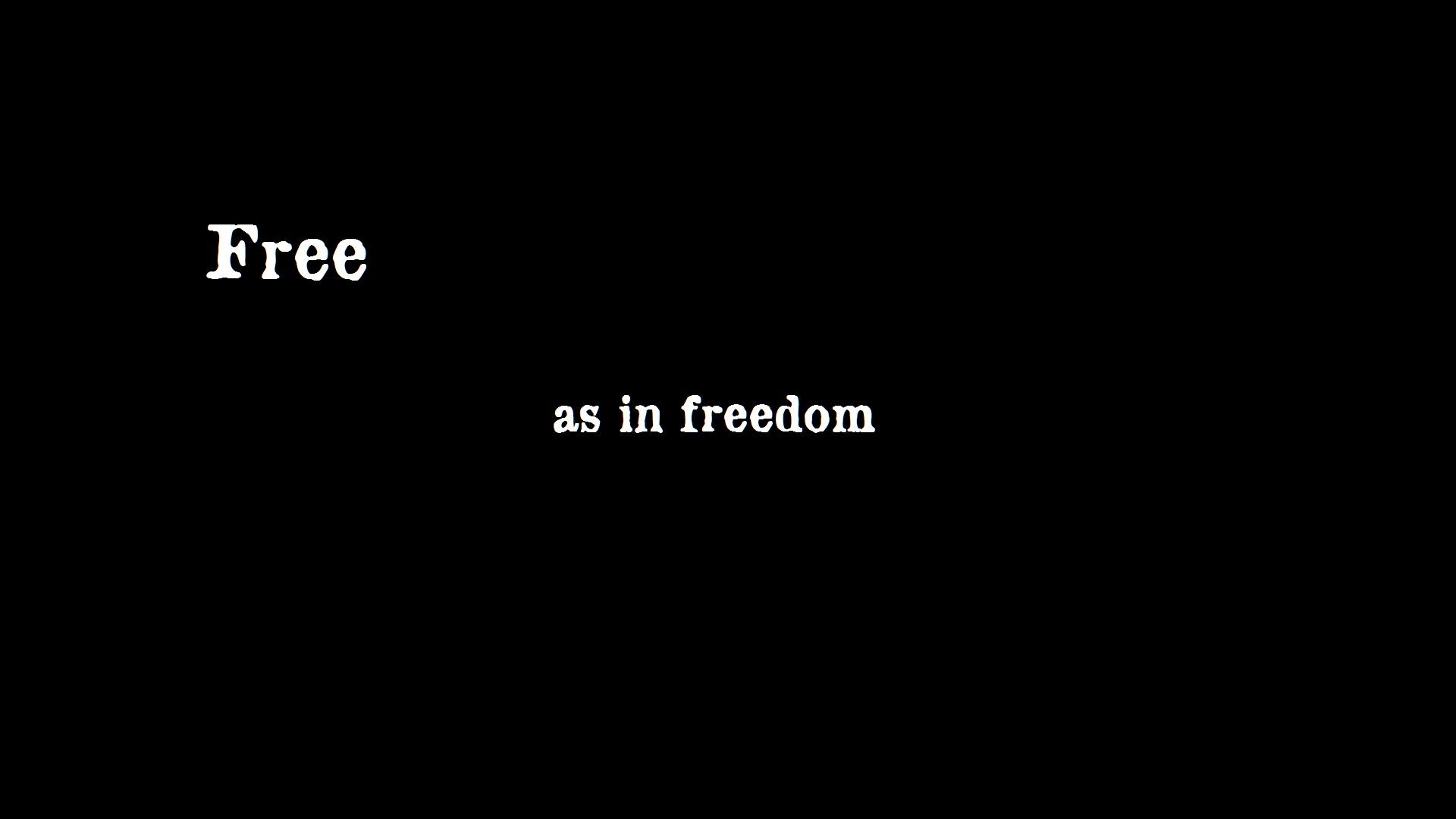 """Frase: free as in freedom. Significado """"Livre como na liberdade"""""""