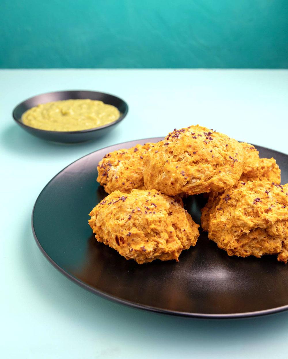 plate of vegan butternut scones