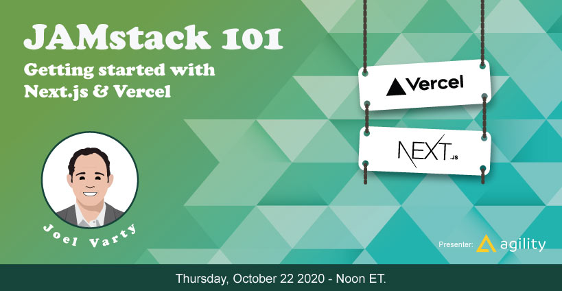 Banner for Jamstack 101: Getting Started with Next.js and Vercel