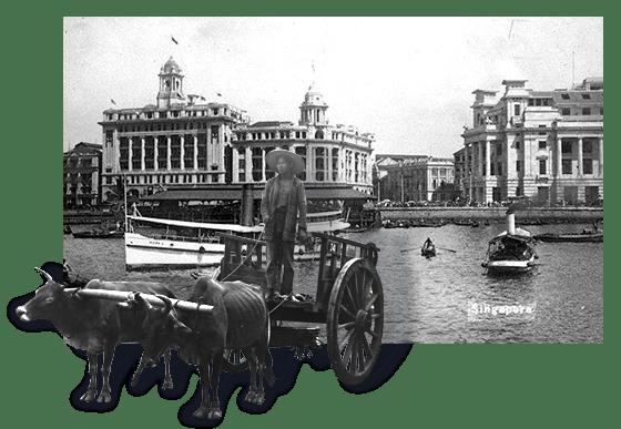 """新加坡的历史可追溯至七百多年前。在1819年开埠成为英国的贸易站后,新加坡便逐渐发展成为一个繁荣的转口贸易枢纽,来自世界各地的人口汇集在此,孕育出多元文化的特色。""""双城往事 — 新加坡篇""""展示了173幅1880至1960年代的历史照片,主要来自新加坡国家图书馆与国家档案馆。"""