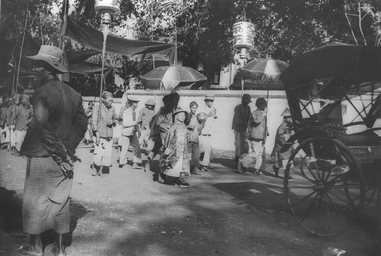 土生华人的迎娶阵容,1909年