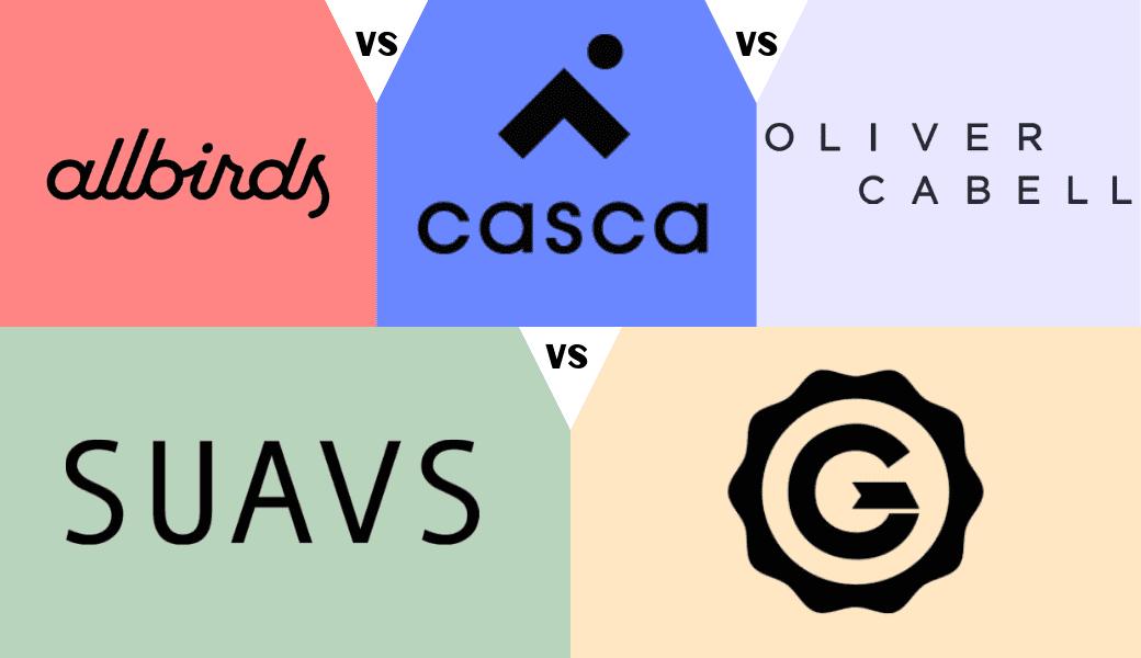 Allbirds vs. Casca vs. OliverCabell vs. SUAVS vs. GREATS - Cover Image