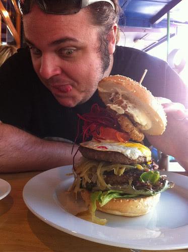 thomas with a huge burger