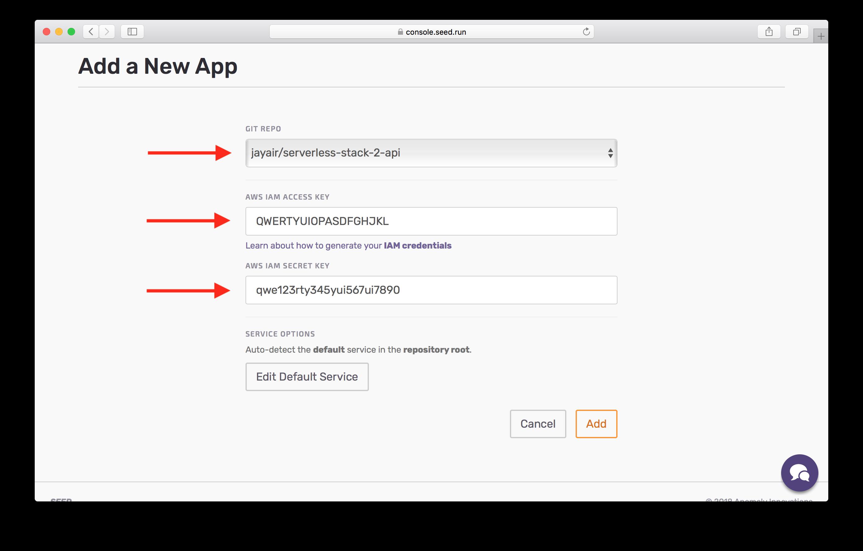 Select GitHub repo screenshot