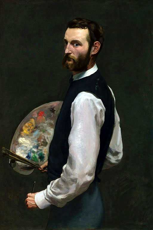 'Self-portrait', by Frédéric Bazille, c. 1865-1866, Art Institute of Chicago