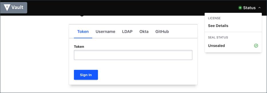 Vault Enterprise UI Login
