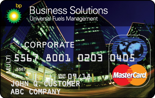 Bp business solutions mastercard card