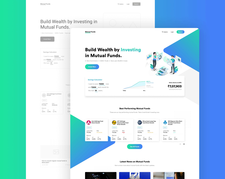 Mutual Fund App Design