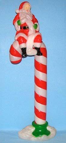 Santa On Candy Cane photo