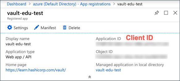 Azure Client Credentials