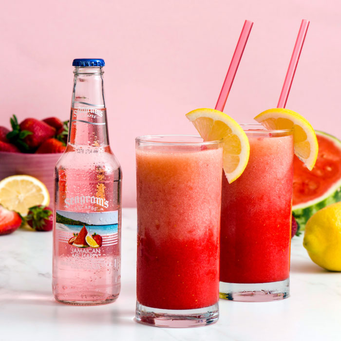 Jamaican Me Happy Layered Slushies Recipe Image