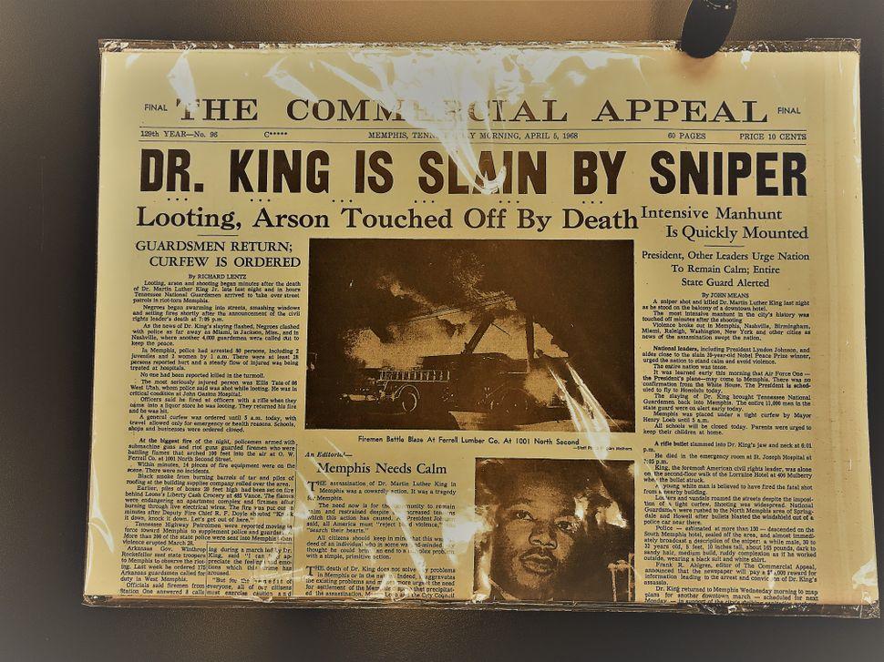 A Memphis newspaper from 1968