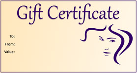 Gift Certificate Template Hair Salon 01