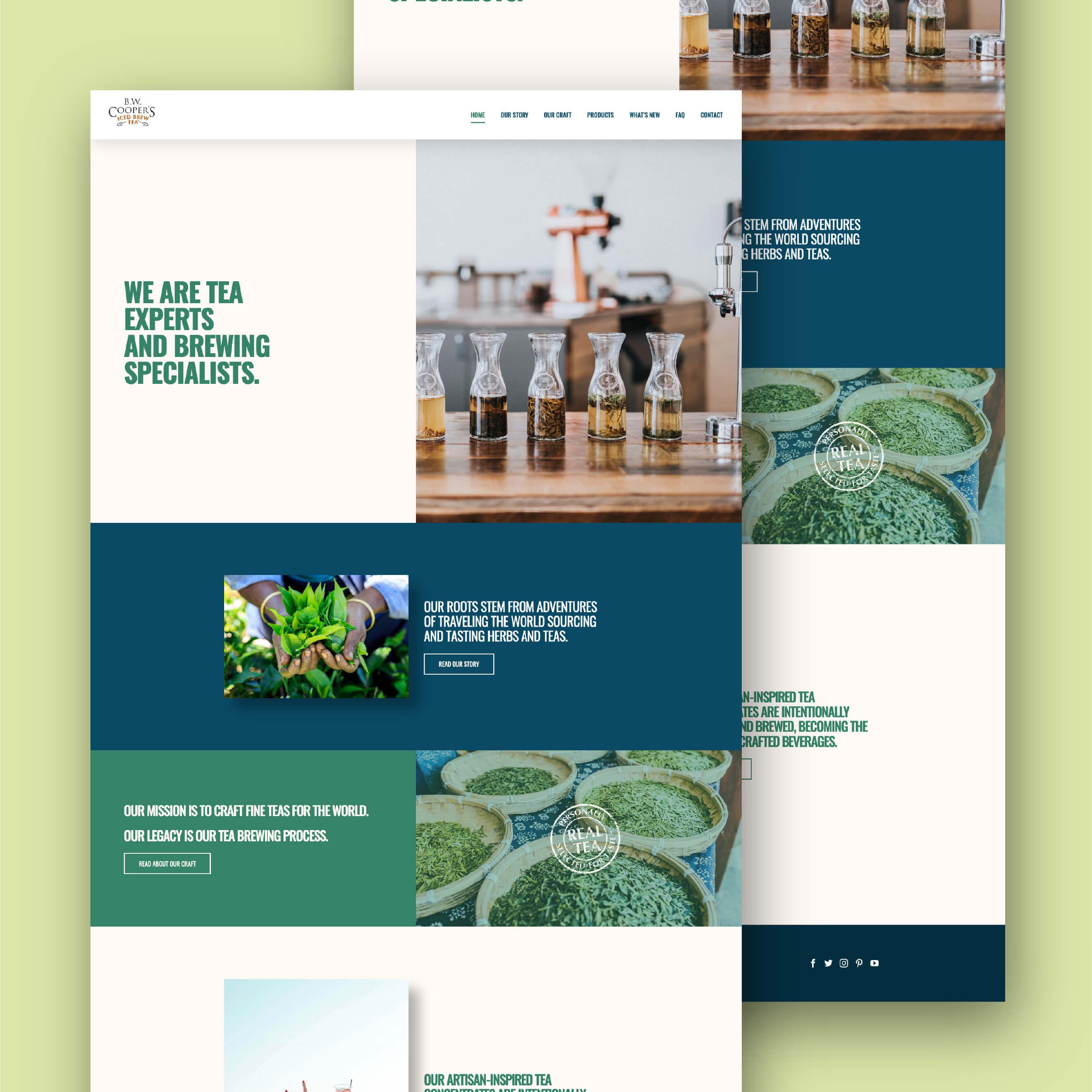 cooper tea homepage