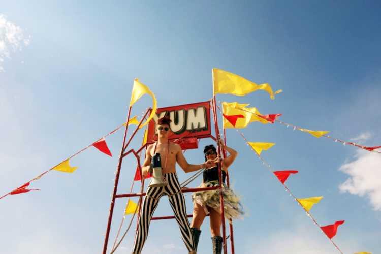 Burning Man Yum Tower