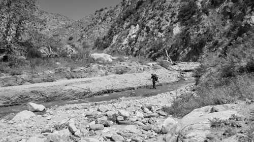Tengo Hambre crossing Mission Creek