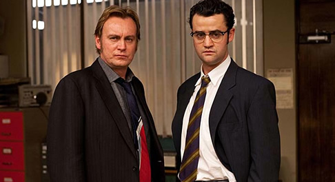 Gene Hunt and Jim Keats from the final series of Ashes to Ashes