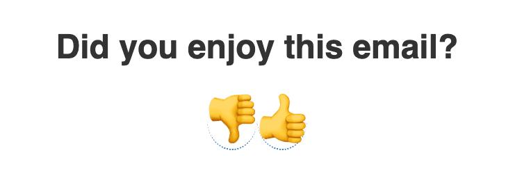 Spark Joy feedback widgets in email