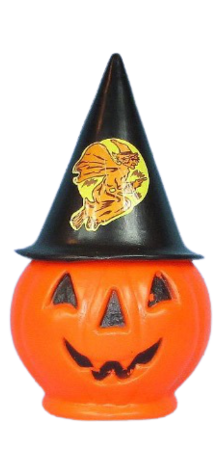 Jack-O-Lantern with Witch Hat photo
