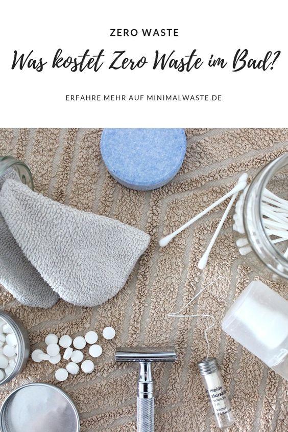 Pinterest Cover zu 'Was kostet Zero Waste im Badezimmer?'