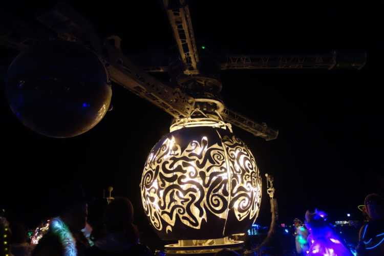 Burning Man Flre Globe
