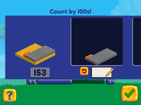 Stairsteps: Complete the pattern by adding or subtracting by 100's, within 1000 Math Game
