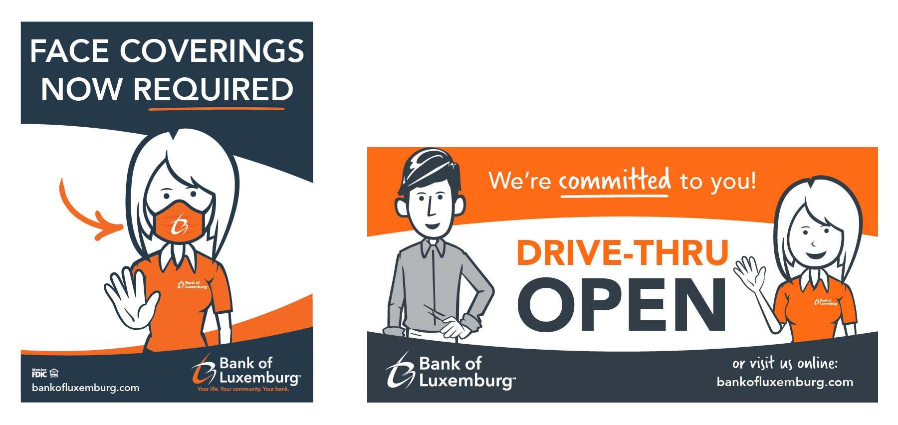Bank of Luxemburg COVID-19 campaign effort